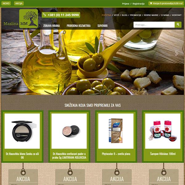 Prodavnica zdrave hrane 'Maslina'